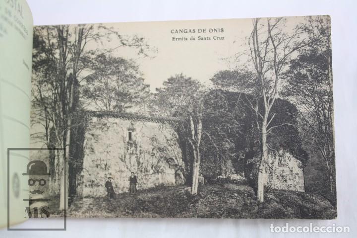 Postales: Taco de 12 Postales - Asturias. Recuerdo de Covadonga. 1ª Serie - El Barato Bazar, Cangas de Onís - Foto 4 - 82008928