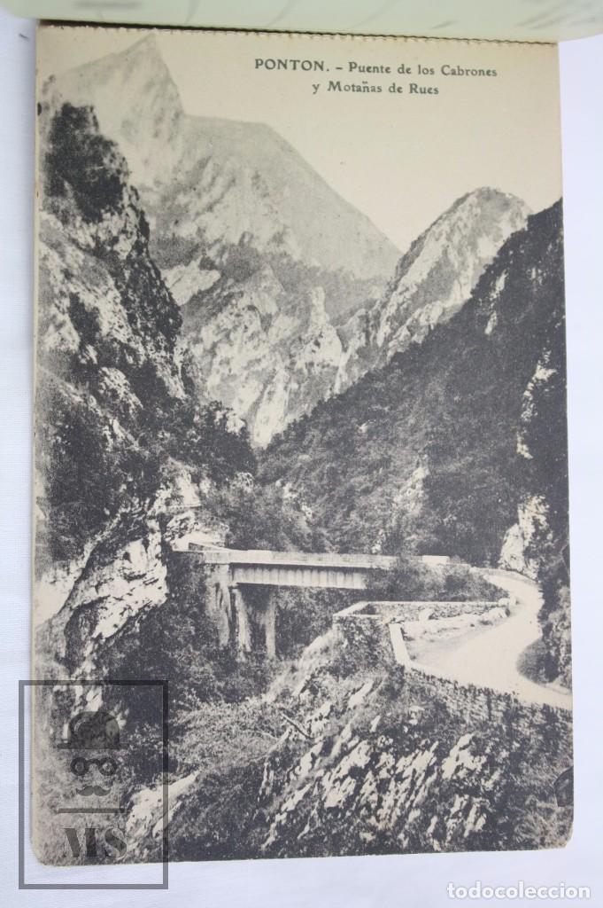 Postales: Taco de 12 Postales - Asturias. Recuerdo de Covadonga. 1ª Serie - El Barato Bazar, Cangas de Onís - Foto 6 - 82008928