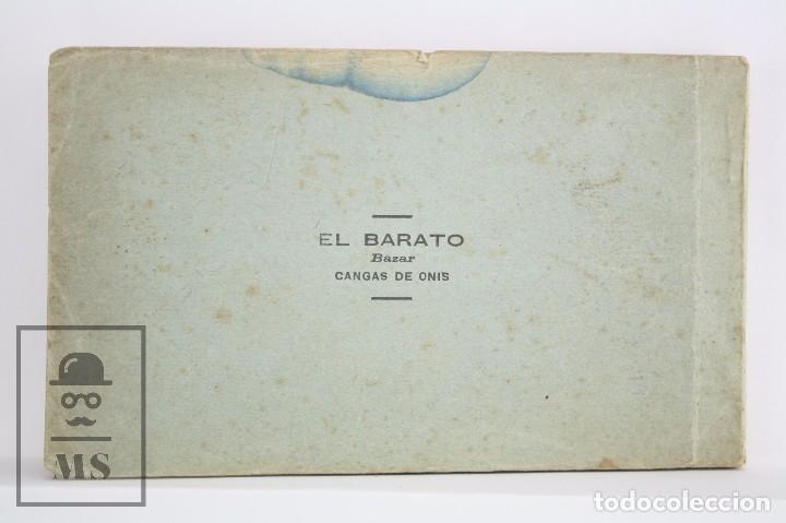 Postales: Taco de 12 Postales - Asturias. Recuerdo de Covadonga. 1ª Serie - El Barato Bazar, Cangas de Onís - Foto 7 - 82008928