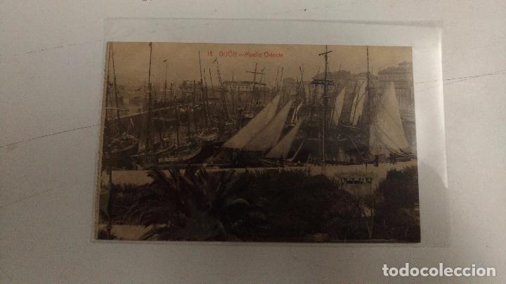 GIJÓN. MUELLE ORIENTE. 1917. ED.:F. MATOS (Postales - España - Asturias Antigua (hasta 1.939))