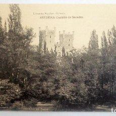 Postales: POSTAL ASTURIAS - CASTILLO DE SECADES - FOTOTIPIA DE HAUSER Y MENET, LIBRERIA ESCOLAR. Lote 84454676