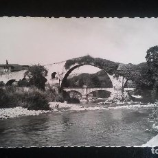 Postales: FOTO POSTAL TROQUELADA CANGAS DE ONIS, PUENTE ROMANO. Lote 85112360