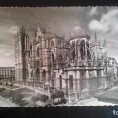 Postales: FOTO POSTAL TROQUELADA DE LEÓN, CATEDRAL. Lote 85112444