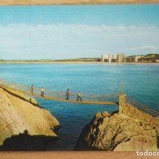 Postales: SALINAS - PUENTE COLGANTE. Lote 85699516