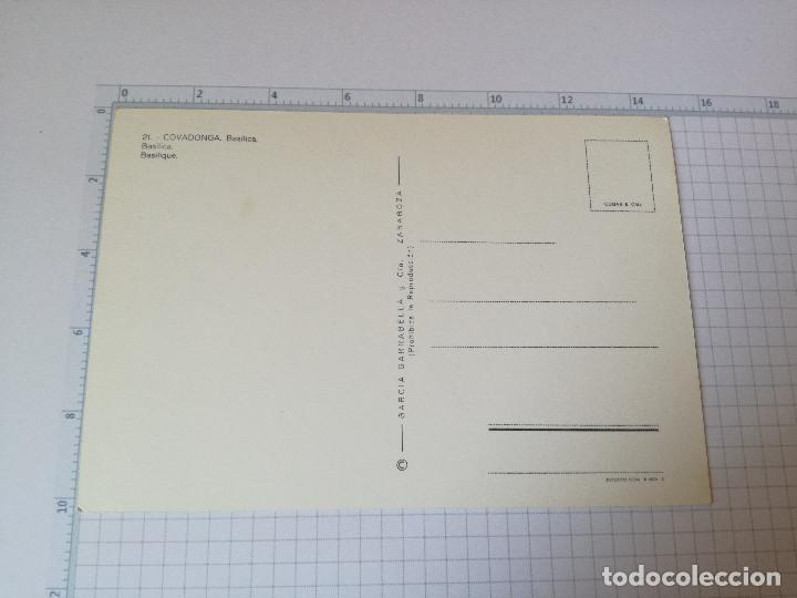 Postales: POSTAL Nº 21 - ASTURIAS - COVADONGA, BASILICA - ED. GARCIA 1968 - Foto 2 - 85706912