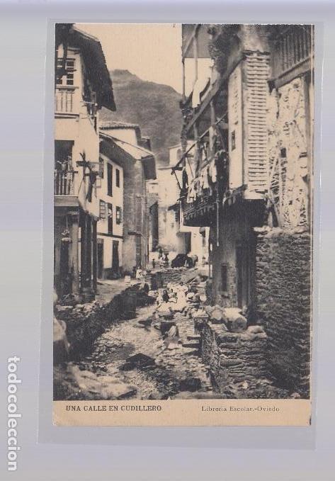 CUDILLERO (ASTURIAS).- UNA CALLE DE CUDILLERO (Postales - España - Asturias Antigua (hasta 1.939))