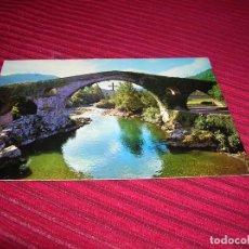 Postales: ANTIGUA POSTAL DE CANGAS DE ONÍS.PUENTE ROMANO.. Lote 90042372