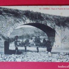 Postales: ANTIGUA POSTAL DE OVIEDO - BAJO EL PUENTE DE LAS SEGADAS - FOTOTIPIA THOMAS... R -6409. Lote 90420654
