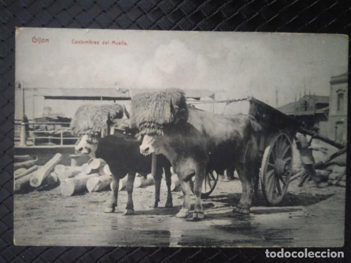 COSTUMBRES DEL MUELLE. GIJÓN. NO CIRCULADA. (Postales - España - Asturias Antigua (hasta 1.939))