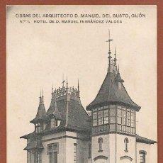 Postales: POSTAL OBRAS DEL ARQUITECTO D. MANUEL DEL BUSTO, GIJÓN Nº 1. Lote 94432434