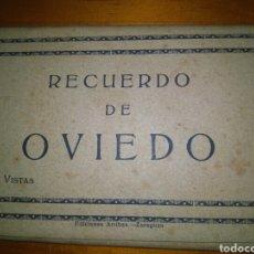 Postales: 10 VISTAS TARJETA POSTAL ACORDEON RECUERDO DE OVIEDO. EFICIONES ARRIBAS . BLANCO/AZUL. Lote 95619070