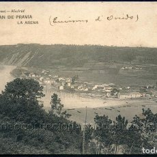 Postales: POSTAL ASTURIAS SAN ESTEBAN DE PRAVIA LA ARENA . HAUSER Y MENET CA AÑO 1910. Lote 96618327