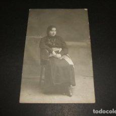 Postales: OVIEDO ASTURIAS E. PARDO FOTOGRAFO RETRATO DE COLEGIALA POSTAL FOTOGRAFICA HACIA 1915. Lote 96909339