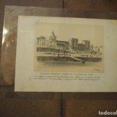Postales: COLEGIATA Y PALACIO DEL MARQUÉS DE S. ESTABAN DEL MAR. GIJON. ASTURIAS. 1884. Lote 97117227