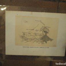Postales: PROYECTO DEL PUERTO DE REFUGIO Y COMERCIAL. GIJON. ASTURIAS. AÑO 1884. GRABADO. Lote 97119503