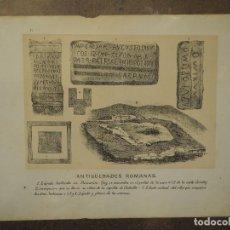 Postales: ANTIGÜEDADES ROMANAS. GIJON. ASTURIAS. AÑO 1884. GRABADO. Lote 97119855