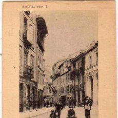Postales: OVIEDO. SERIE A NUM 7. CALLE DE CIMADEVILLA ARTES GRÁFICAS GIJÓN. REVERSO SIN DIVIDIR. SIN CIRCULAR.. Lote 97248687