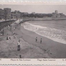 Postales: GIJON (ASTURIAS) - PLAZA DE SAN LORENZO. Lote 97541243