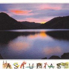 Postales: POSTAL ATARDECER EN EL LAGO ENOL. Lote 98088367