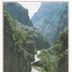 Postales: POSTAL DESFILADERO DE LOS BEYOS Y RIO SELLA. PICOS DE EUROPA. Lote 98813787