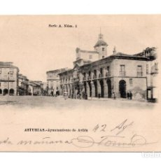 Postales: TARJETA POSTAL DE AVILES - ASTURIAS - AYUNTAMIENTO DE AVILES - SERIE A. NUM. 4 - FOT. DE BELL. Lote 98881627