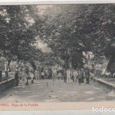 Postales: 7 LLANES. VEGA DE LA PORTILLA. LIBRERIA PESQUERA. 5585 THOMAS. SIN CIRCULAR. JUEGO BOLOS.. Lote 100080511