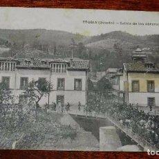 Postales: POSTAL DE TRUBIA, OVIEDO, SALIDA DE LOS OBREROS DE LA FABRICA DE ARMAS, ED. M.G. OVIEDO, CIRCULADA.. Lote 100741231
