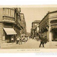 Postales: ASTURIAS GIJON CALLE DE SAN BERNARDO. L.ROISIN, FOT. SIN CIRCULAR. Lote 101094447