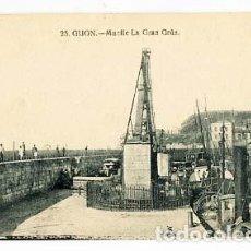 Postales: ASTURIAS GIJON MUELLE LA GRAN GRUA GRAFOS . SIN CIRCULAR. Lote 101094511