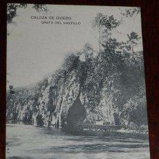 Postales: POSTAL DE CALDAS DE OVIEDO, GRUTA DEL CASTILLO, ASTURIAS, NO CIRCULADA, NO PONE EDITORIAL.. Lote 101184507