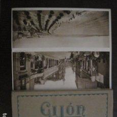Postales: GIJON - POSTALES PANORAMICAS ANTIGUAS - BLOCK 12 POSTALES ACORDEON GRANDES -VER FOTOS-(V-12.364). Lote 101390519