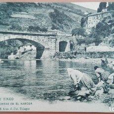 Postales: POSTAL ASTURIAS SERIE B Nº 6 FOT VILLEGAS CANGAS DE TINEO LAVANDERAS EN EL NARCEA REVERSO SIN DIVIDI. Lote 102139971