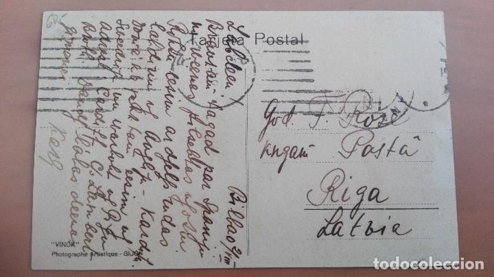 Postales: POSTAL VINCK GIJON ASTURIAS PINTORESCA TIPOS ASTURIANOS COSTUMBRES ASTURIANAS HORREO CARROS BUEYES - Foto 2 - 102156939