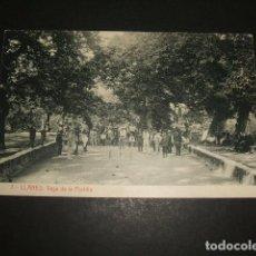 Postales: LLANES ASTURIAS VEGA DE LA PORTILLA BOLERA JUGANDO A LOS BOLOS. Lote 103199059