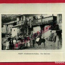 Postales: POSTAL GIJON , ALREDEDORES , UNA QUINTANA , ORIGINAL , P87998. Lote 103226395