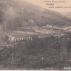 Postales: TRUBIA. VISTA GENERAL DE LA FÁBRICA DE ARMAS. ASTURIAS. HAUSER Y MENET. SIN CIRCULAR. Lote 104395907