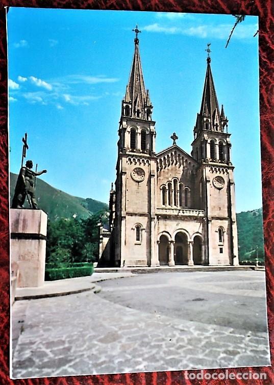 COVADONGA (ASTURIAS). 89 BASÍLICA Y ESTATUA DEL REY DON PELAYO. EDICIONES ARRIBAS. NUEVA (Postales - España - Asturias Moderna (desde 1.940))