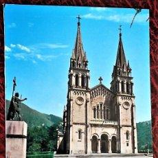 Postales: COVADONGA (ASTURIAS). 89 BASÍLICA Y ESTATUA DEL REY DON PELAYO. EDICIONES ARRIBAS. NUEVA. Lote 105137471