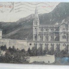 Postales: COVADONGA LA CATEDRAL POSTAL VINCK CIRCULADA. Lote 105648790