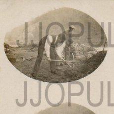 Postales: MOREDA. MAYO 1920. TRABAJADORES. FOTOGRÁFICA. FOTO. M. GONZALEZ. ESTEREOSCOPICA. Lote 105873939
