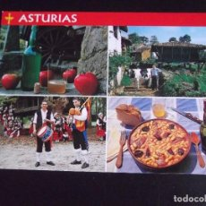 Cartes Postales: ASTURIAS-V44-NUEVO-SIDRA,HORREO TIPICO,FOLKLORE Y PLATO DE FABADA. Lote 105995259