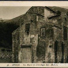 Postales: POSTAL OVIEDO SAN MIGUEL DE LIRIO SIGLO XI FACHADA . L. ROISIN . CA AÑO 1920 .. Lote 105996439