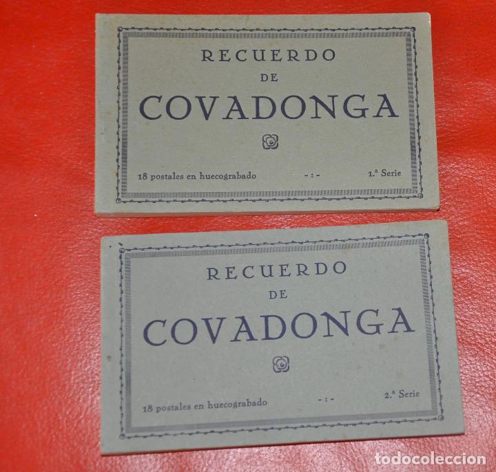 2 BLOCS POSTALES RECUERDO DE COVADONGA 1 Y 2 SERIE , MUMBRÚ (Postales - España - Asturias Moderna (desde 1.940))