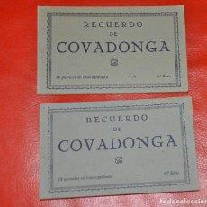 Postales: 2 BLOCS POSTALES RECUERDO DE COVADONGA 1 Y 2 SERIE , MUMBRÚ . Lote 107011895