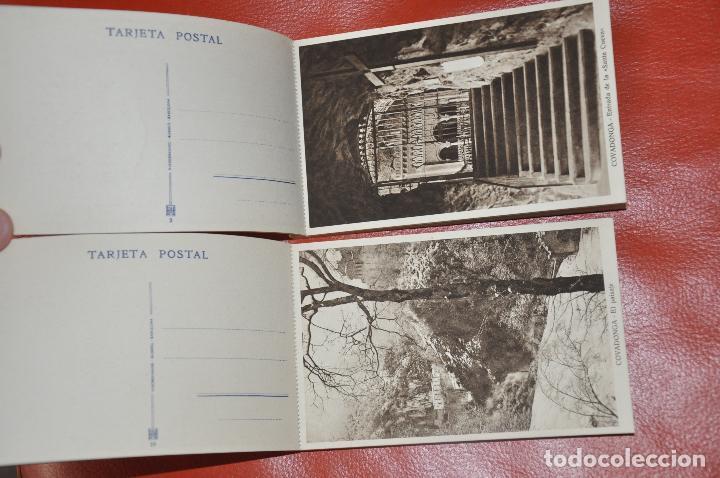 Postales: 2 BLOCS POSTALES RECUERDO DE COVADONGA 1 Y 2 SERIE , MUMBRÚ - Foto 2 - 107011895