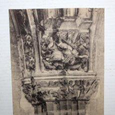 Postales: ANTIGUA POSTAL DE LA CATEDRAL DE OVIEDO. ASTURIAS. VISTA DE UN CAPITEL. ESCRITA. Lote 107195219