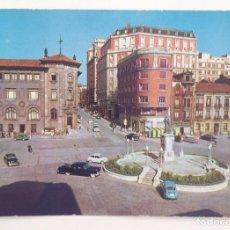 Postales: 2024 GIJON :PLAZA 6 DE AGOSTO & C/FERNANDEZ VALLIN AÑOS 60'S. Lote 107586447