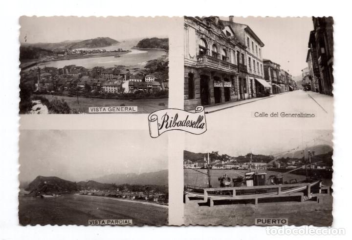 RIBADESELLA . ASTURIAS.- VARIAS VISTAS . -FOTOMELLY. OVIEDO (Postales - España - Asturias Moderna (desde 1.940))