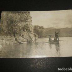 Postales: PRAVIA ASTURIAS ORILLAS DEL NALON POSTAL FOTOGRAFICA H. 1915. Lote 109403307