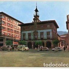 Postales: ASTURIAS SAMA DE LANGREO PLAZA DEL AYUNTAMIENTO. ED. PACIOS. SIN CIRCULAR. Lote 109575047